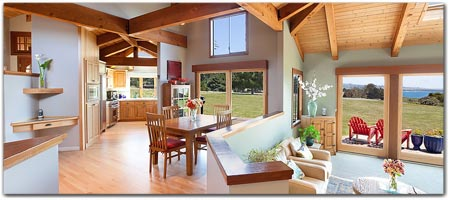 Click For More Information On Mendocino Sunrise House 2 King Queen Beds