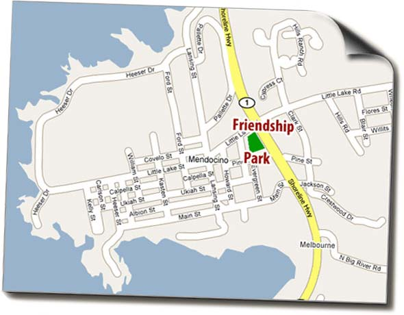 Map of Friendship Park
