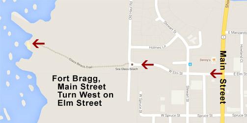 Fort Bragg Ca Glass Beach Map