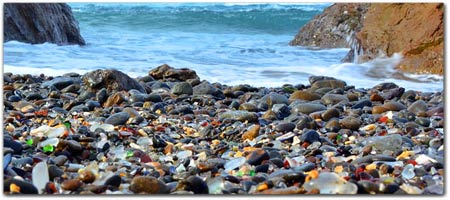 Glass Beach in Fort Bragg, Mendocino Coast