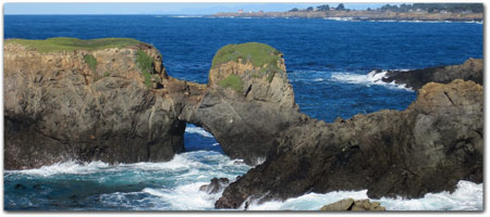 MENDOCINO HEADLANDS<br>BEAUTIFUL BLUFFS &amp; BEACHES