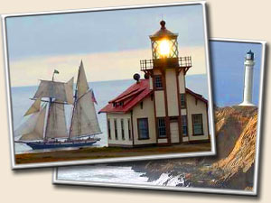 TWO LOVELY LIGHTHOUSES
