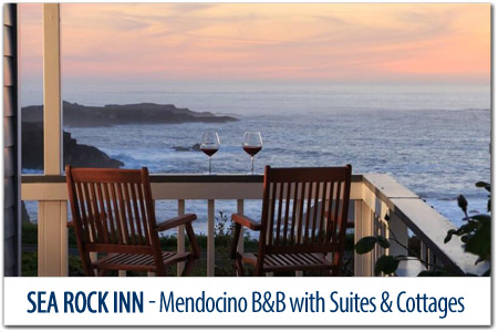 Sea Rock Inn - Mendocino Cottages with Stunning Views
